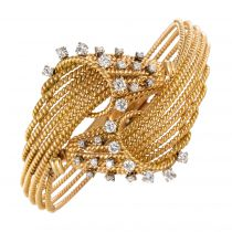 Bracelet fils d\'or et diamants