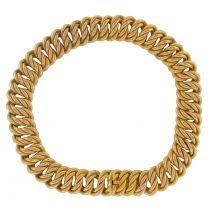 Bracelet gourmette ancien texturé