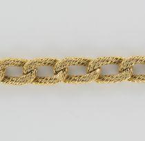 Bracelet gourmette ciselée or vintage