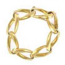 Bracelet gourmette en or jaune