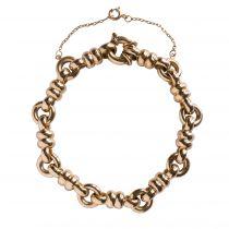 Bracelet gourmette or jaune occasion