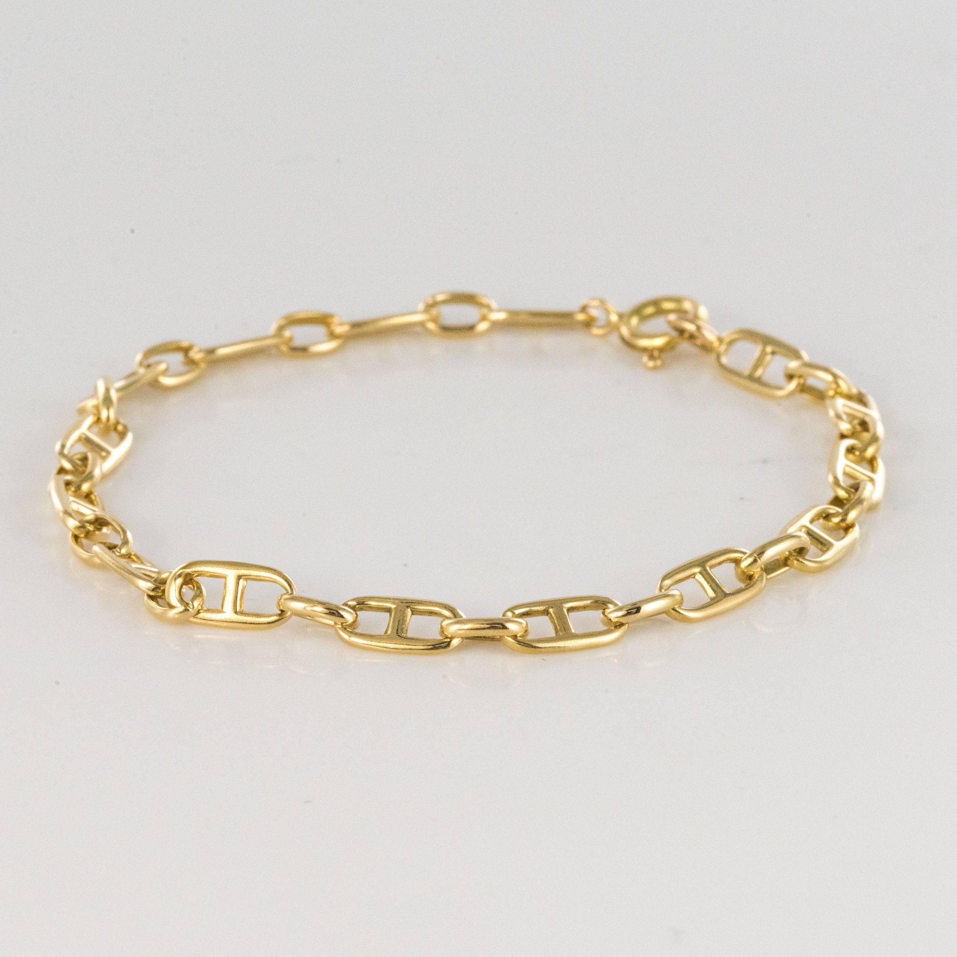 Bracelet gourmette or maille marine
