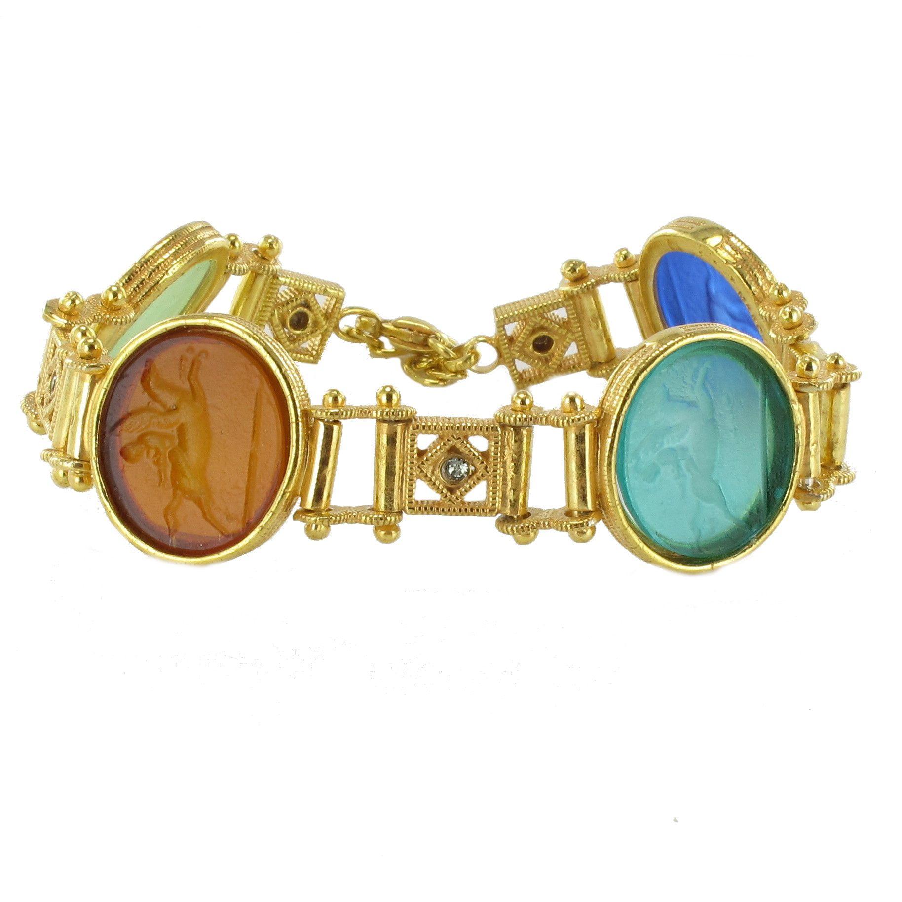Bracelet intailles en vermeil