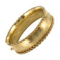 Bracelet jonc ancien en or ciselé