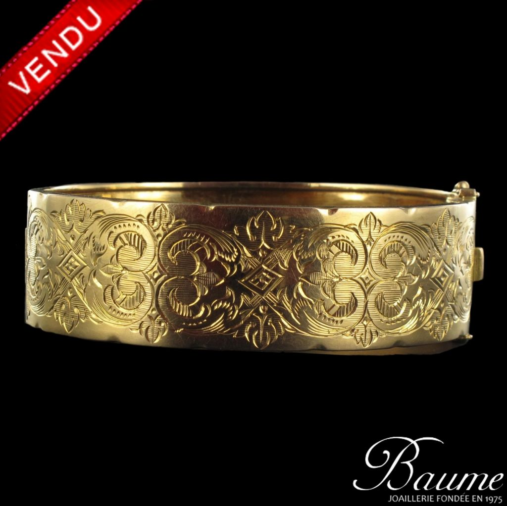 Bracelet jonc ancien or