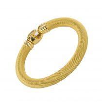 Bracelet jonc câble en or