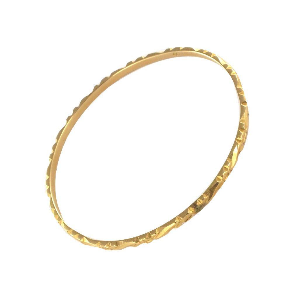 Bracelet jonc en or ciselé