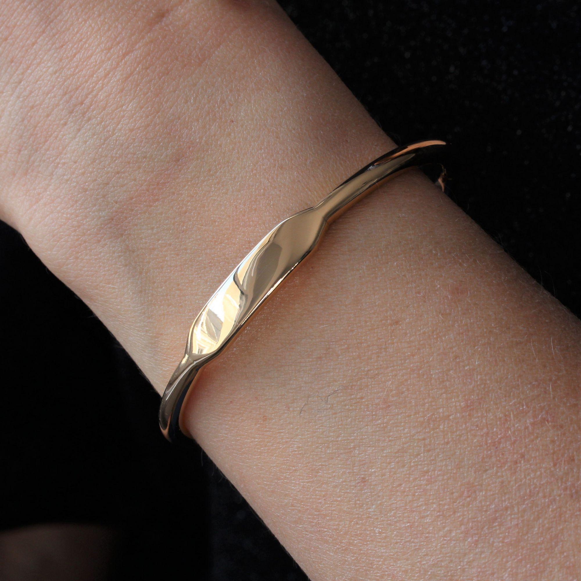 Bracelet jonc en or rose