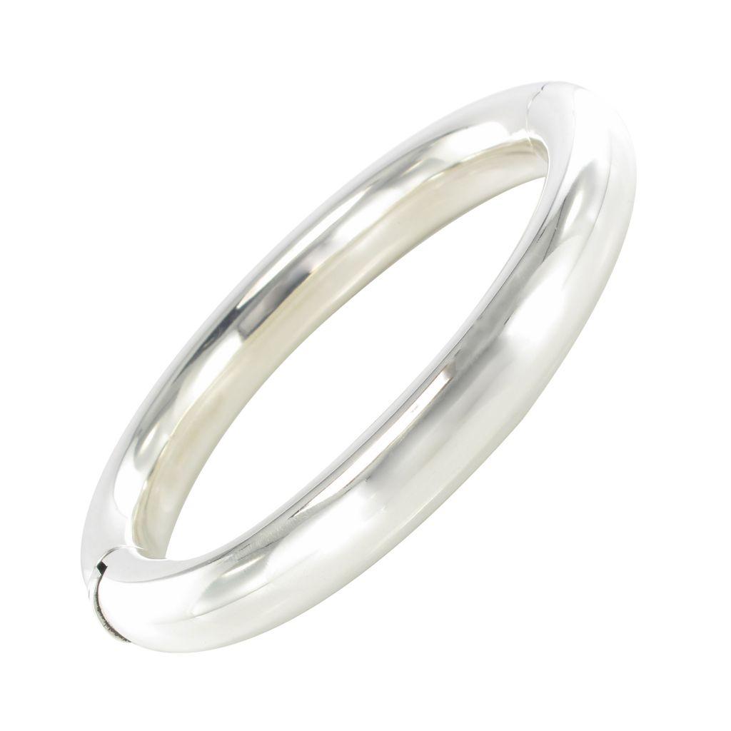 Bracelet jonc ovale argent