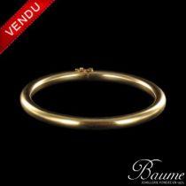 Bracelet jonc rond en or