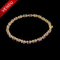 Bracelet ligne d 'améthystes