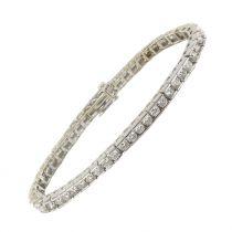 Bracelet ligne de diamants