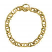 Bracelet maille marine ciselée or jaune