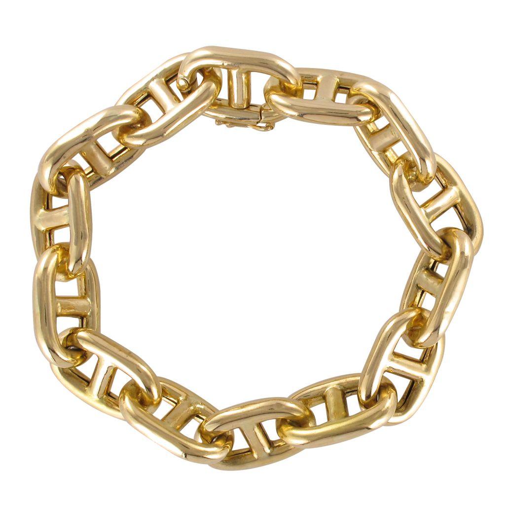 Bracelet maille marine en or