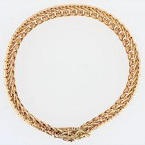 Bracelet mailles articulées or jaune