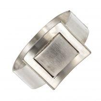 Bracelet montre jonc argent moderniste