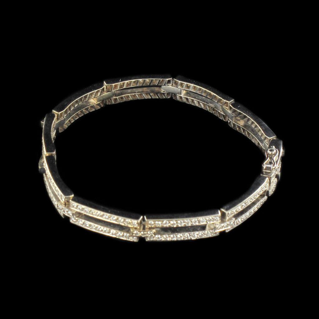 Bracelet or blanc et diamants  G 3
