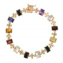 Bracelet or et pierres fines