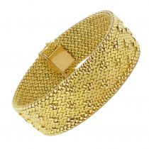 Bracelet or maille milanaise