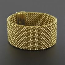 Bracelet or ruban tressé