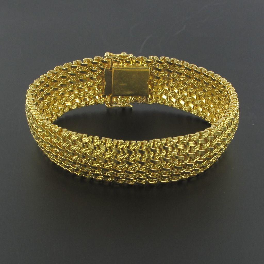 Bracelet or souple tressé