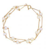 Bracelet perles de culture et or