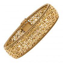 Bracelet ruban or jaune vintage