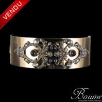 Bracelet Saphirs cabochons et Diamants ancien