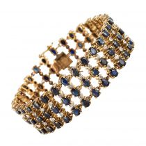 Bracelet saphirs diamants vermeil