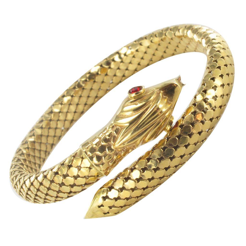 pas mal ccf19 ced1d Bracelet Serpent en Or