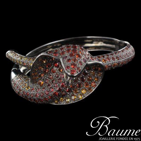 Bracelet serpent saphirs