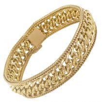 Bracelet souple gourmette d\'or