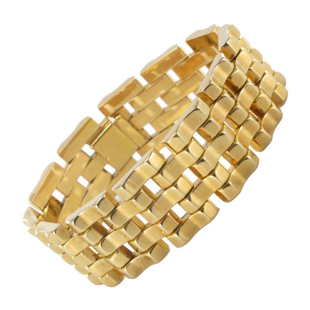 Bracelet tank ancien or jaune