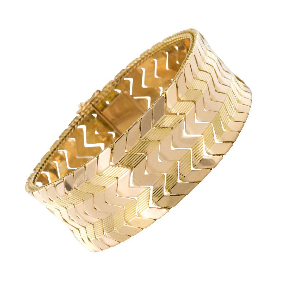 Bracelet vintage en or jaune