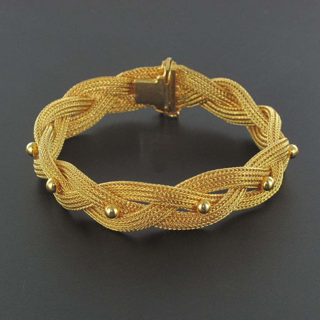 Bracelet vintage or tressé