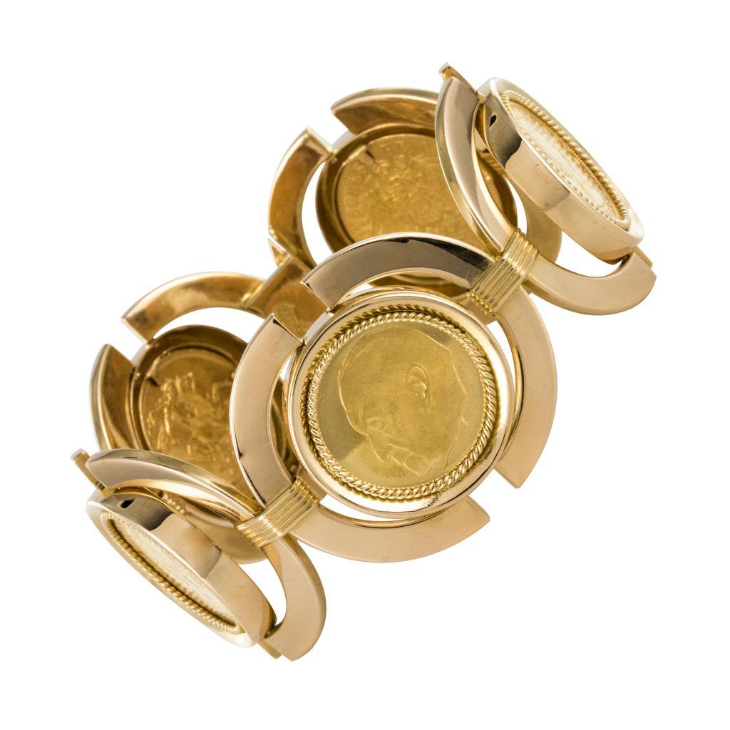 Bracelet vintage pièces d\'or