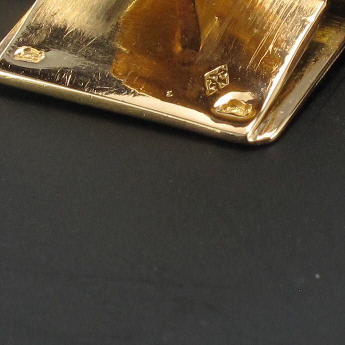 Bracelet vintage souple en or jaune tissé