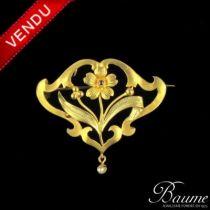 Broche -pendentif en or Belle époque