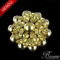 Broche 1960 Or Jaune