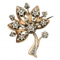 Broche ancienne arbre diamanté