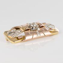 Broche ancienne art déco diamants