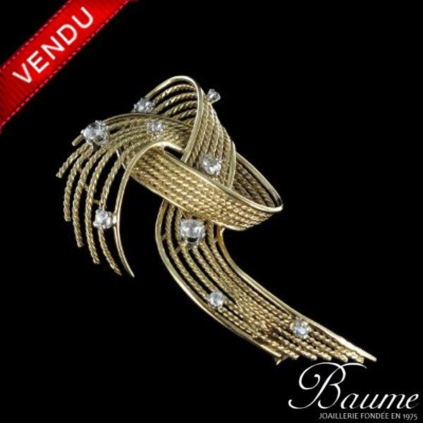 Broche ancienne Diamants