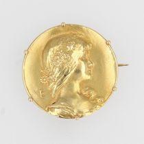 Broche ancienne en or art nouveau