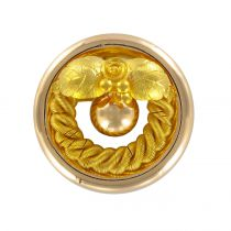 Broche ancienne ronde en or