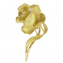 Broche ancienne Rose d\'or et de diamants