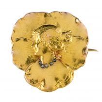 Broche art nouveau diamants