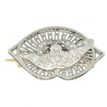 Broche Boucheron ancienne Diamants