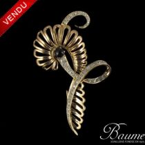 Broche Diamants et Grenat