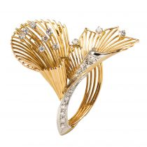 Broche diamants vintage