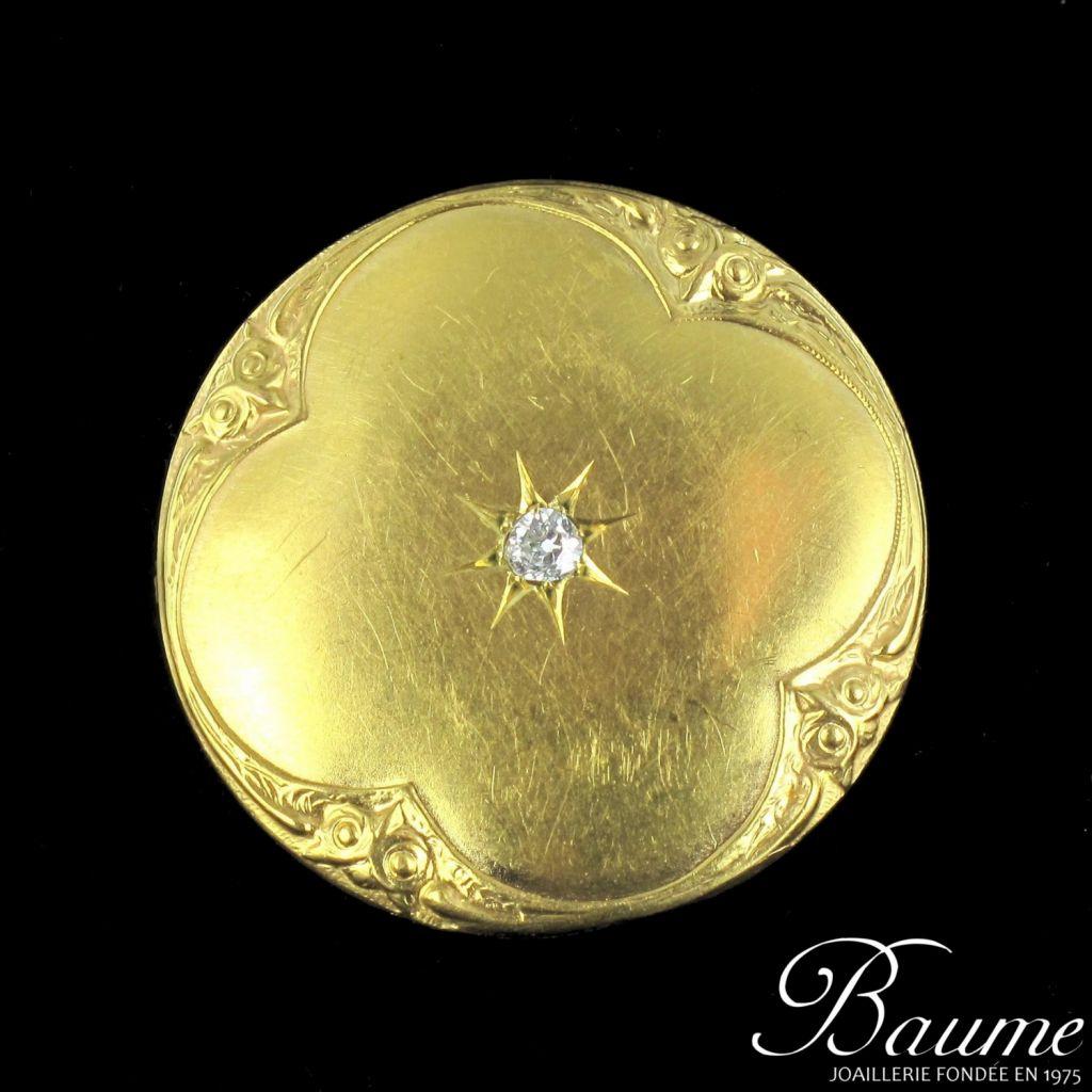 Broche en or et diamant